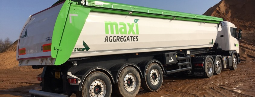 Maxi Concrete Aggregates Lorry with logo