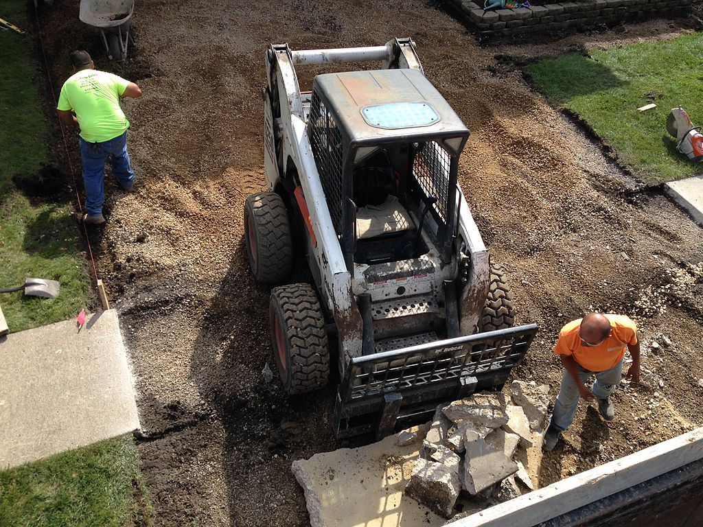 preparing a concrete driveway